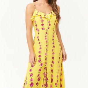 Forever 21 Floral Button Front Maxi Dress